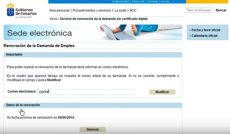 Servicio canario de empleo cursos gratuitos encuentra for Renovar demanda de empleo con certificado digital